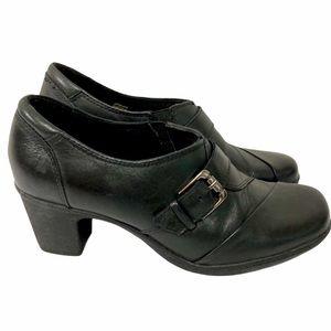 Earth Origins Black Leather Slip-On Mules Size 9.5